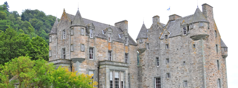 Castle Menzies from the South West