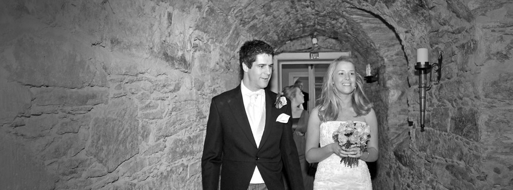 A Castle Menzies wedding - Bride and Groom on ground floor