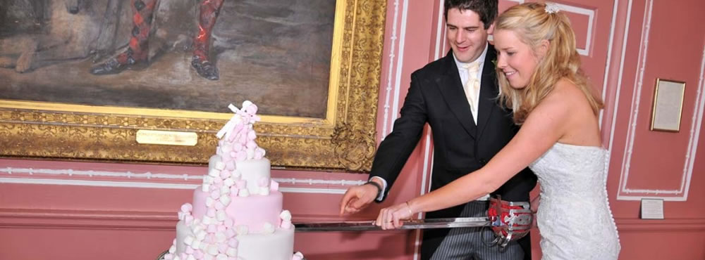 A Castle Menzies wedding - Cake cutting in Main Hall