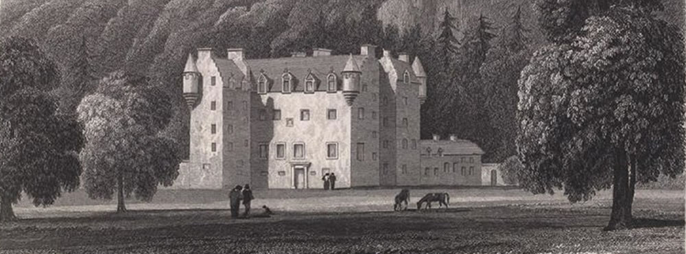 J. P. Neale's drawing of Castle Menzies 1825