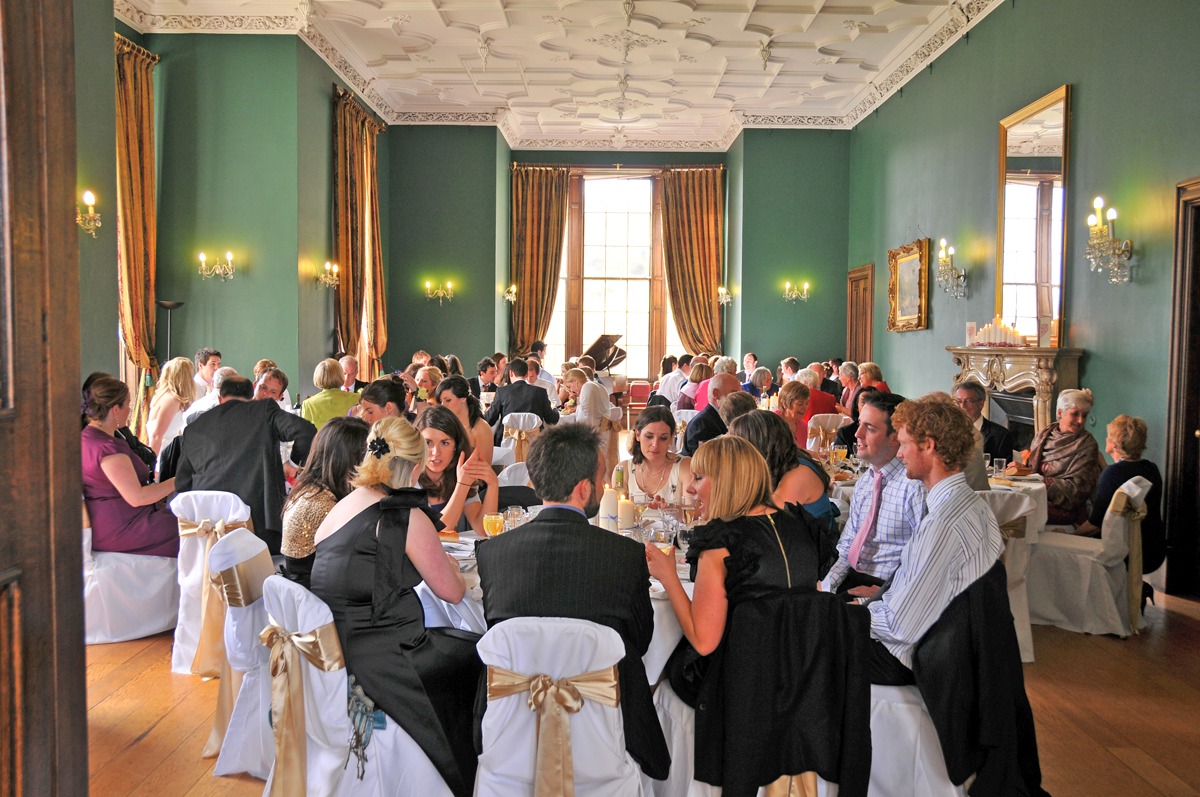Our Ballroom Meal In The Dewar Room At Castle Menzies Spectacular Scottish Wedding Venue